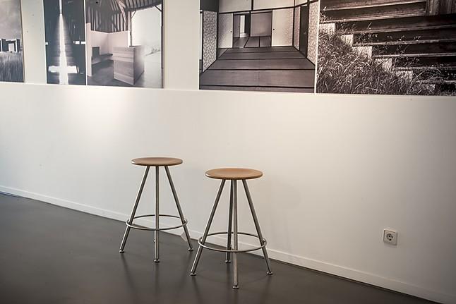 barhocker hocker duktus sitzfl che kirschbaumholz furniert sitzh he 63cm bulthaup m bel von. Black Bedroom Furniture Sets. Home Design Ideas
