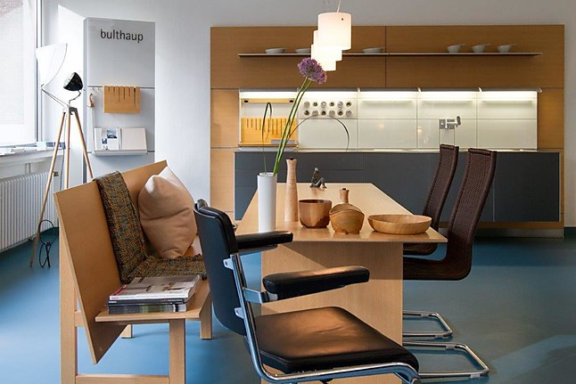st hle essplatz wundersch ner tisch mit bank bulthaup. Black Bedroom Furniture Sets. Home Design Ideas