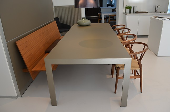 st hle c3 bank nussbaum und wandpaneel lehm bulthaup. Black Bedroom Furniture Sets. Home Design Ideas