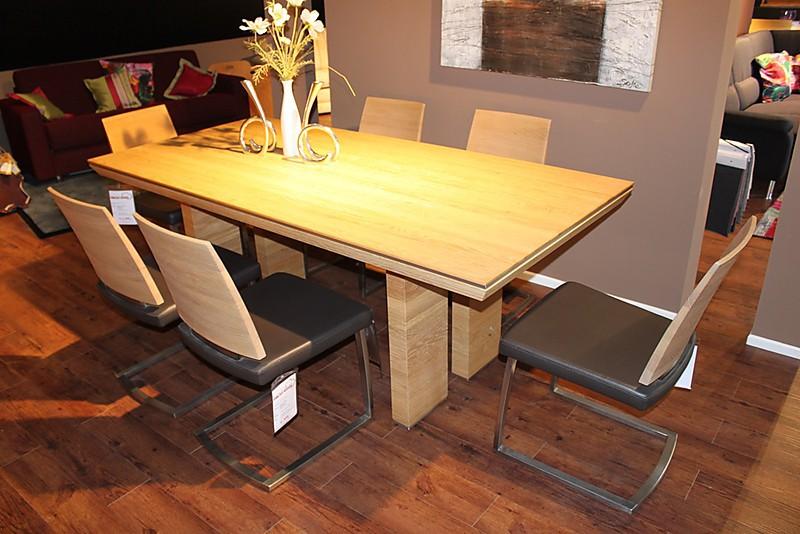 esstische ausstellungsst ck abholpreis abverkauf. Black Bedroom Furniture Sets. Home Design Ideas