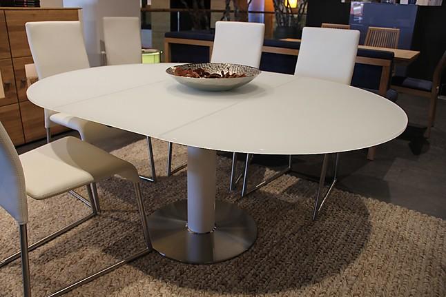 esstische linda hochwertiger runder glasesstisch mit auszug ronald schmitt m bel von wohnfitz. Black Bedroom Furniture Sets. Home Design Ideas