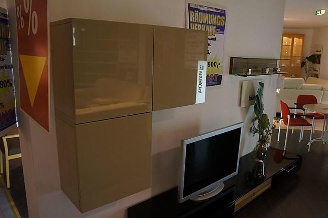 wohnw nde lilac h lsta wohnwand hochglanz sand schwarz h lsta m bel von m bel neust in wirges. Black Bedroom Furniture Sets. Home Design Ideas