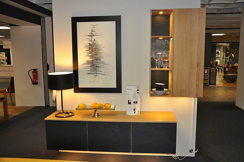wohnw nde elements system 8 8 wohnwand eiche hell massiv ge lt front schiefer natur struktur. Black Bedroom Furniture Sets. Home Design Ideas