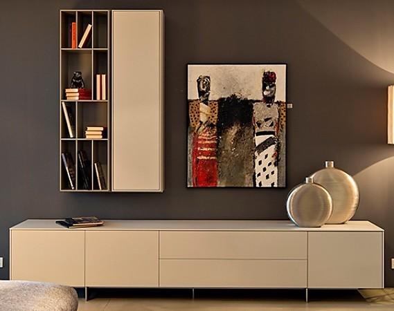 Wohnwände line und flex wohnwand elemente piure möbel von meiser