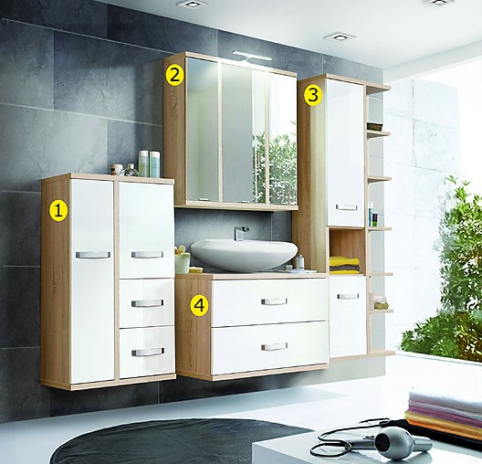 badezimmerschr nke h ngeschrank wohntrend gr nau sonstige. Black Bedroom Furniture Sets. Home Design Ideas