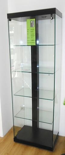 schr nke und vitrinen sdb design linea 60 glasvitrine. Black Bedroom Furniture Sets. Home Design Ideas