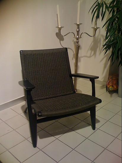 sessel ch 25 design hans j wegner sessel schwarz carl. Black Bedroom Furniture Sets. Home Design Ideas
