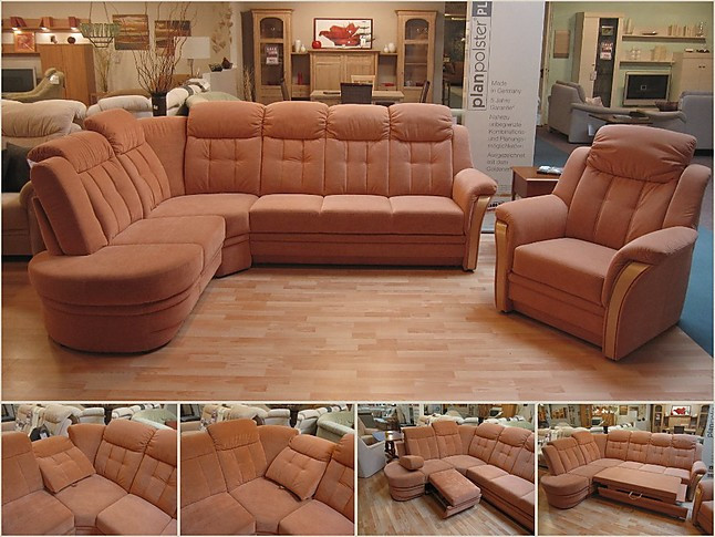 sofas und couches microfaser terracotta polstergarnitur sonstige m bel von m belhaus friedrich. Black Bedroom Furniture Sets. Home Design Ideas