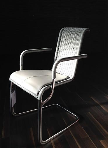 st hle tecta kragstuhl mit armlehne leder grau tecta kragstuhl mit armlehne leder grau tecta. Black Bedroom Furniture Sets. Home Design Ideas