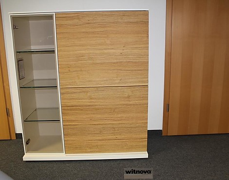 witnova 300 Lack bianco Vollholzfront (B 105 cm) - Highboard witnova 300