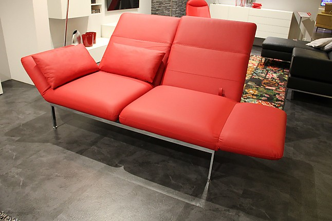 sofas und couches roro medium exklusiver leder 2 sitzer