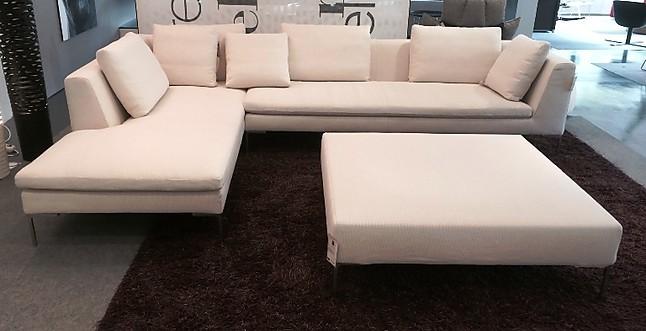 B B Möbel sofas und couches charles sofalandschaft mit hocker b b italia