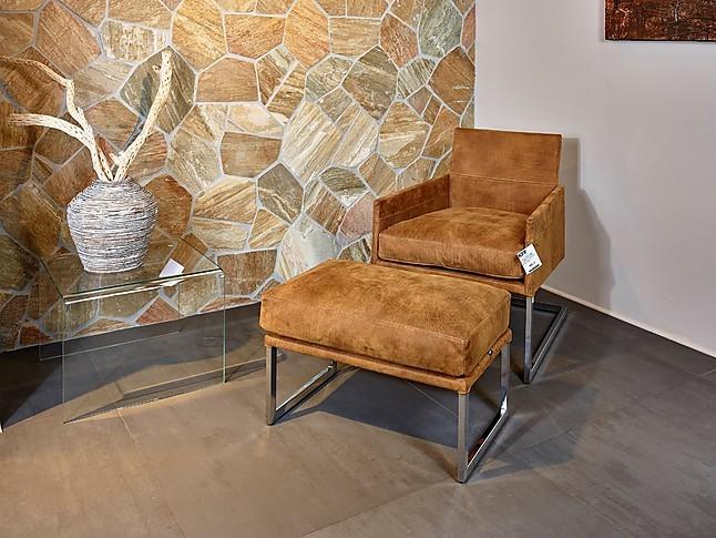 sessel texas lounge freischwinger mit hocker kff design. Black Bedroom Furniture Sets. Home Design Ideas