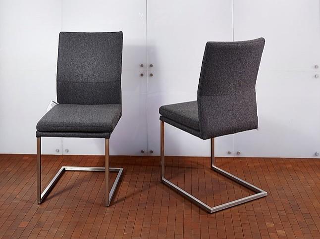 st hle 6 freischwinger 6 freischwinger stoff grau. Black Bedroom Furniture Sets. Home Design Ideas