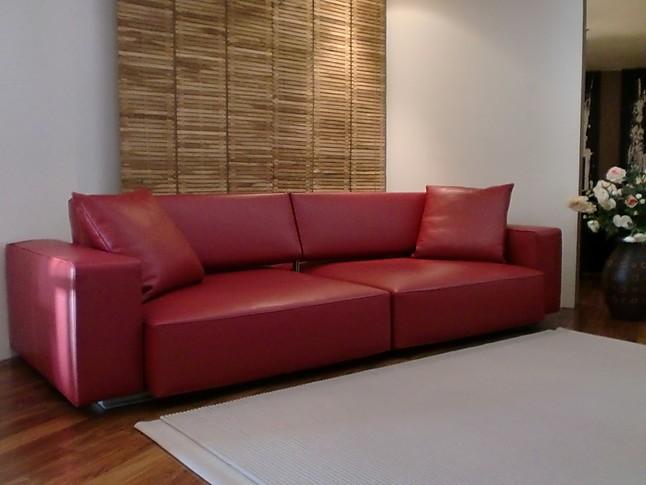 B B Möbel sofas und couches b b italia sofa andy leder rot b b italia sofa