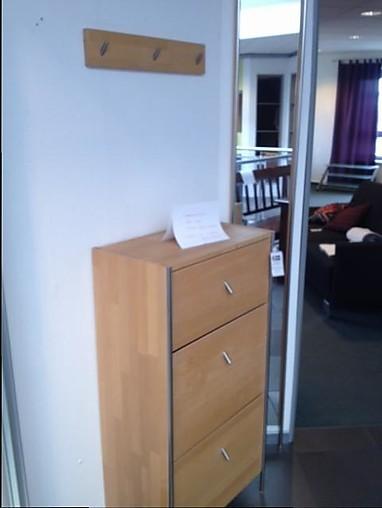 schuhschr nke garderobenkombination ahorn massiv ge lt. Black Bedroom Furniture Sets. Home Design Ideas