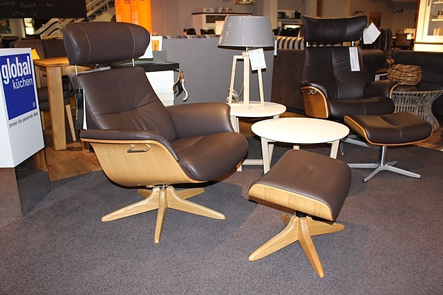 sessel time out- conform relaxsessel mit hocker leder braun, Hause deko