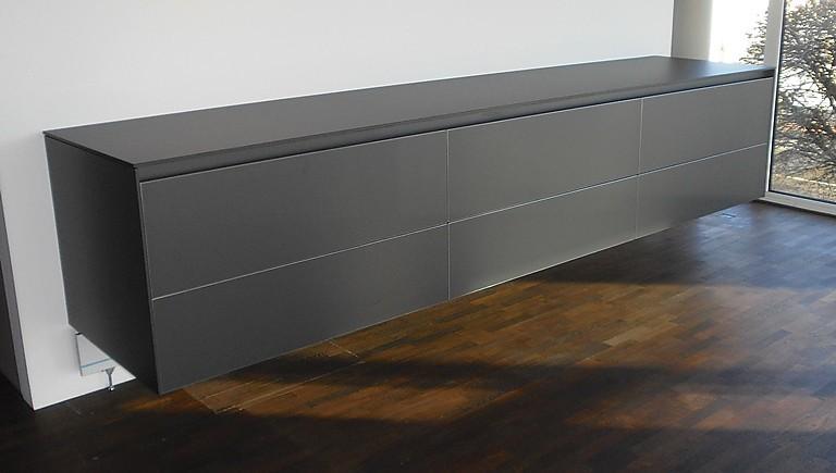 wohnw nde b 3 laminat graphit wandh ngendes sideboard als k chen oder wohnraumerg nzung. Black Bedroom Furniture Sets. Home Design Ideas