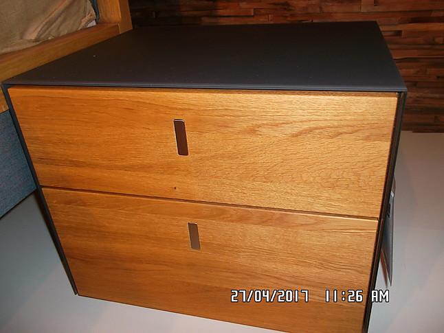 betten mylon und cubus pure bett mylon in natur l eiche mit nachtk stchen cubus pure von. Black Bedroom Furniture Sets. Home Design Ideas
