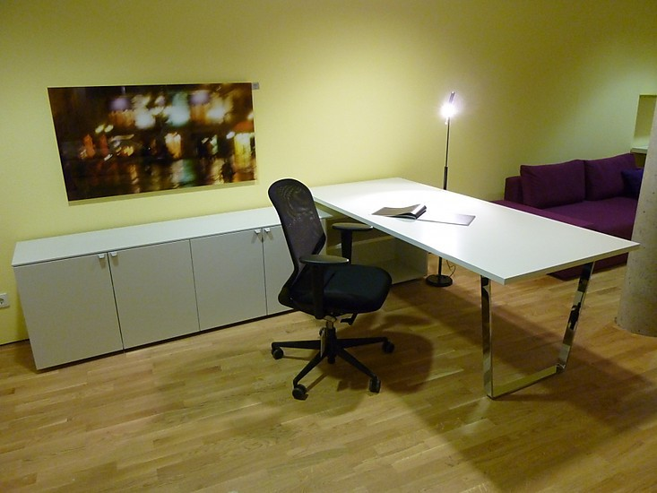 schreibtische duo plus von interl bke schreibtisch mit. Black Bedroom Furniture Sets. Home Design Ideas
