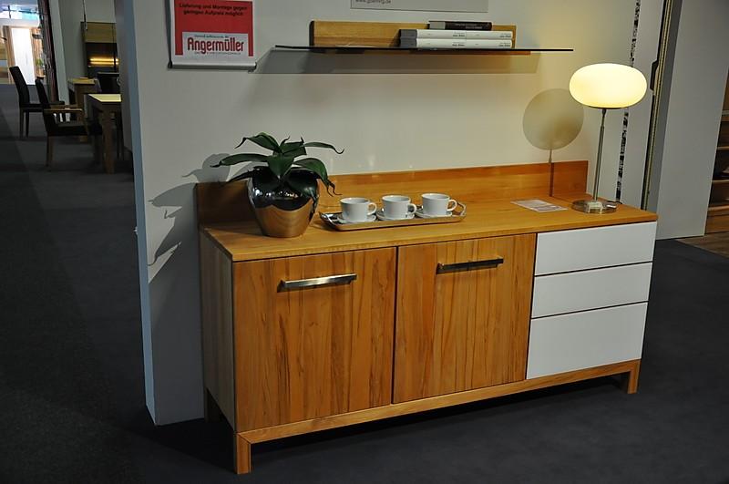 wohnw nde anrichte lino system 8 8 le1000 sideboard kernbuche massiv ge lt reinweiss. Black Bedroom Furniture Sets. Home Design Ideas