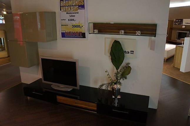 Wohnwände Lilac Hülsta Wohnwand Hochglanz Sandschwarz Hülsta Möbel
