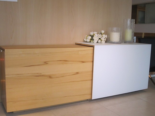 regale und sideboards team 7 cubus sideboard kernbuche weißglas