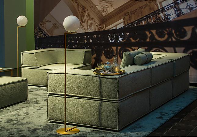 sofas und couches trio sofa von cor cor m bel von bulthaup am mediapark in k ln. Black Bedroom Furniture Sets. Home Design Ideas