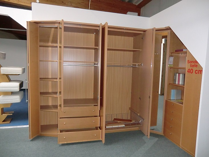 kleiderschr nke system 3000 ahorn natur furniert nolte eck kleiderschrank echtholz ahorn nolte. Black Bedroom Furniture Sets. Home Design Ideas