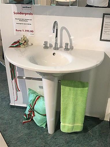 Duravit Stark 2 Waschtisch mit Säule und integriertem Handtuchhalter