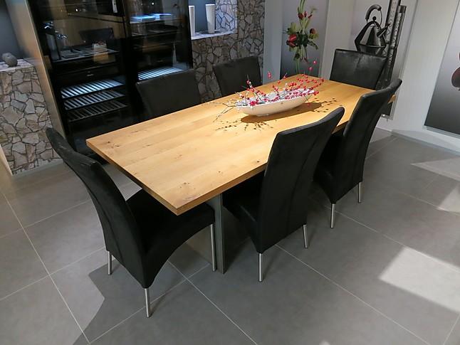 esstische kf 12 asteiche massiver holztisch mit stahlwangen sonstige m bel von k chen forum. Black Bedroom Furniture Sets. Home Design Ideas