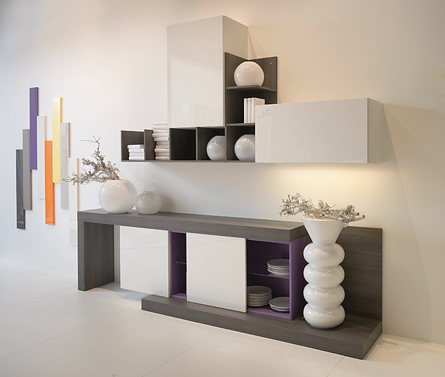 wohnw nde l16 lux lacklaminat 361 kunststoff wei hochglanz nolte design wohnwand lux. Black Bedroom Furniture Sets. Home Design Ideas