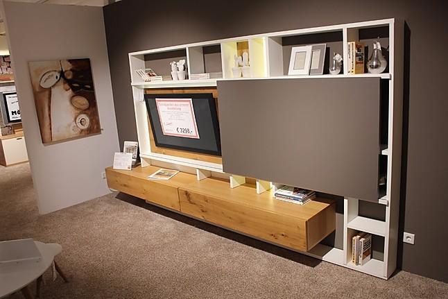 Regale und Sideboards Global 4450 TV- Wohnbkombi Lack weiß ...