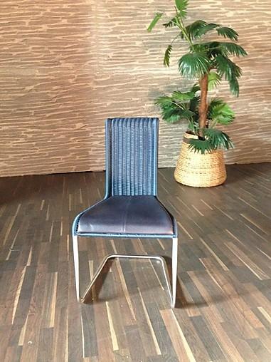 st hle tecta kragstuhl ohne armlehne leder dunkelblau. Black Bedroom Furniture Sets. Home Design Ideas