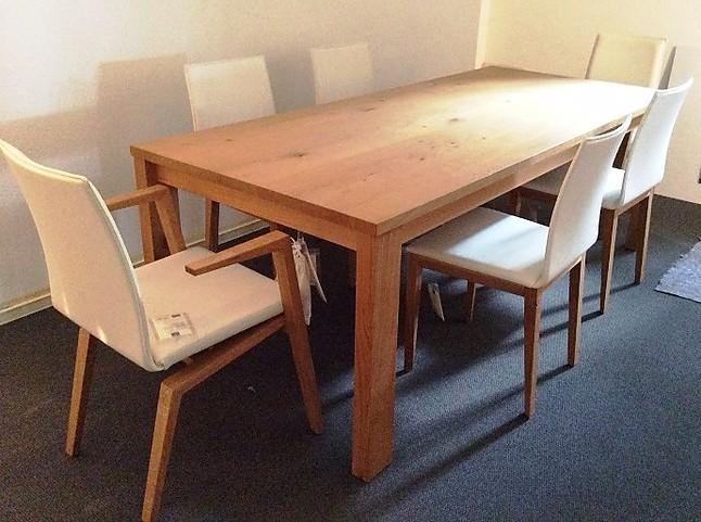 esstische varus tisch mit st hle sando ii und opal ii essplatz gruppe in eiche massiv. Black Bedroom Furniture Sets. Home Design Ideas